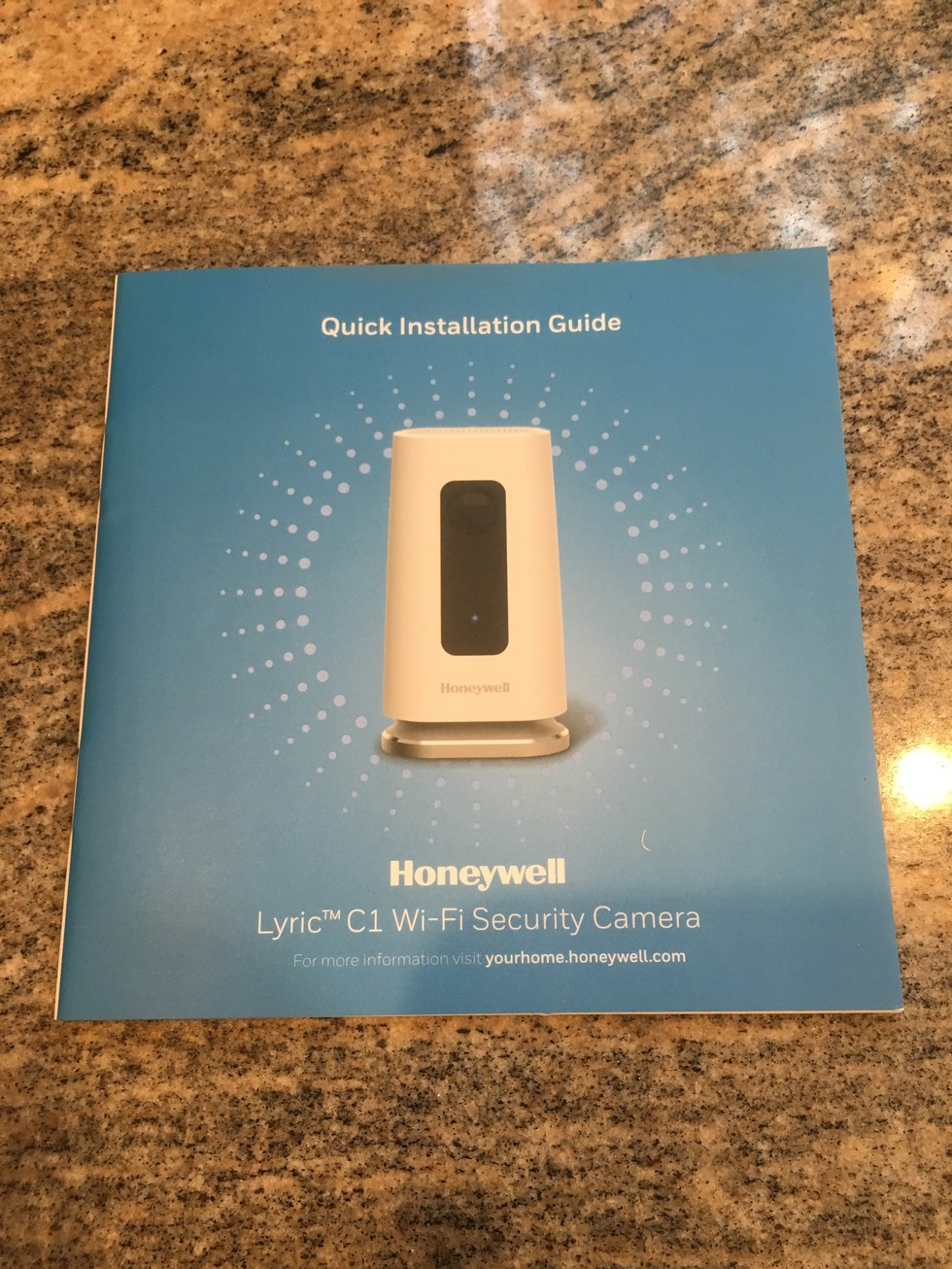 Honeywell Lyric C1 Wi-Fi Security Camera Quick Installation Guide