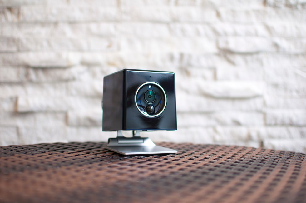 Oomi's Cube doubles as a security camera, and also includes sensors to detect humidity and temperature