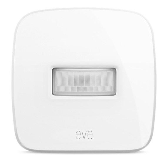 Used both inside and outside, Motion is as it sounds, the motion detector for the Eve system