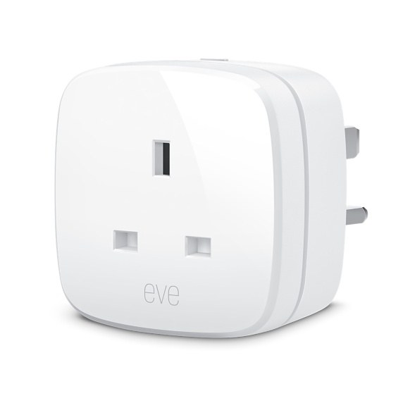 Eve's smart plug, the Energy, also monitors energy consumption in the home