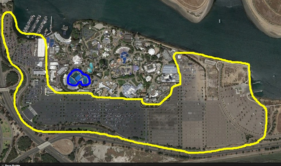 Seaworld Car Park Compared To Tanks