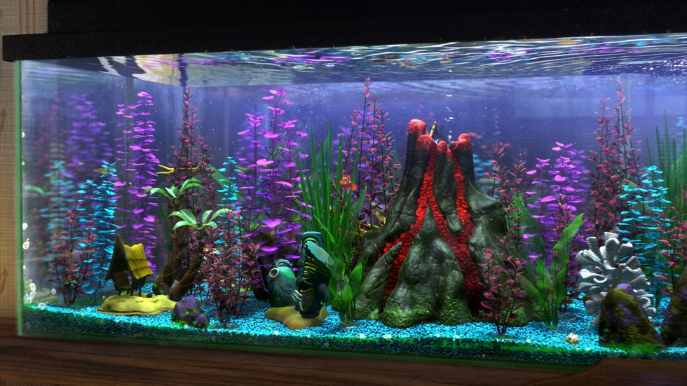 80 awesomely creative fish tank decorations. Black Bedroom Furniture Sets. Home Design Ideas