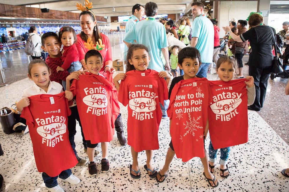 Kids with their Honolulu Fantasy Flight shirts
