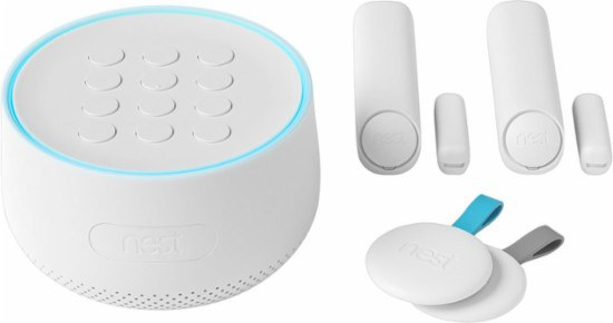 You can arm and disarm the Nest Secure Alarm System with a smartphone