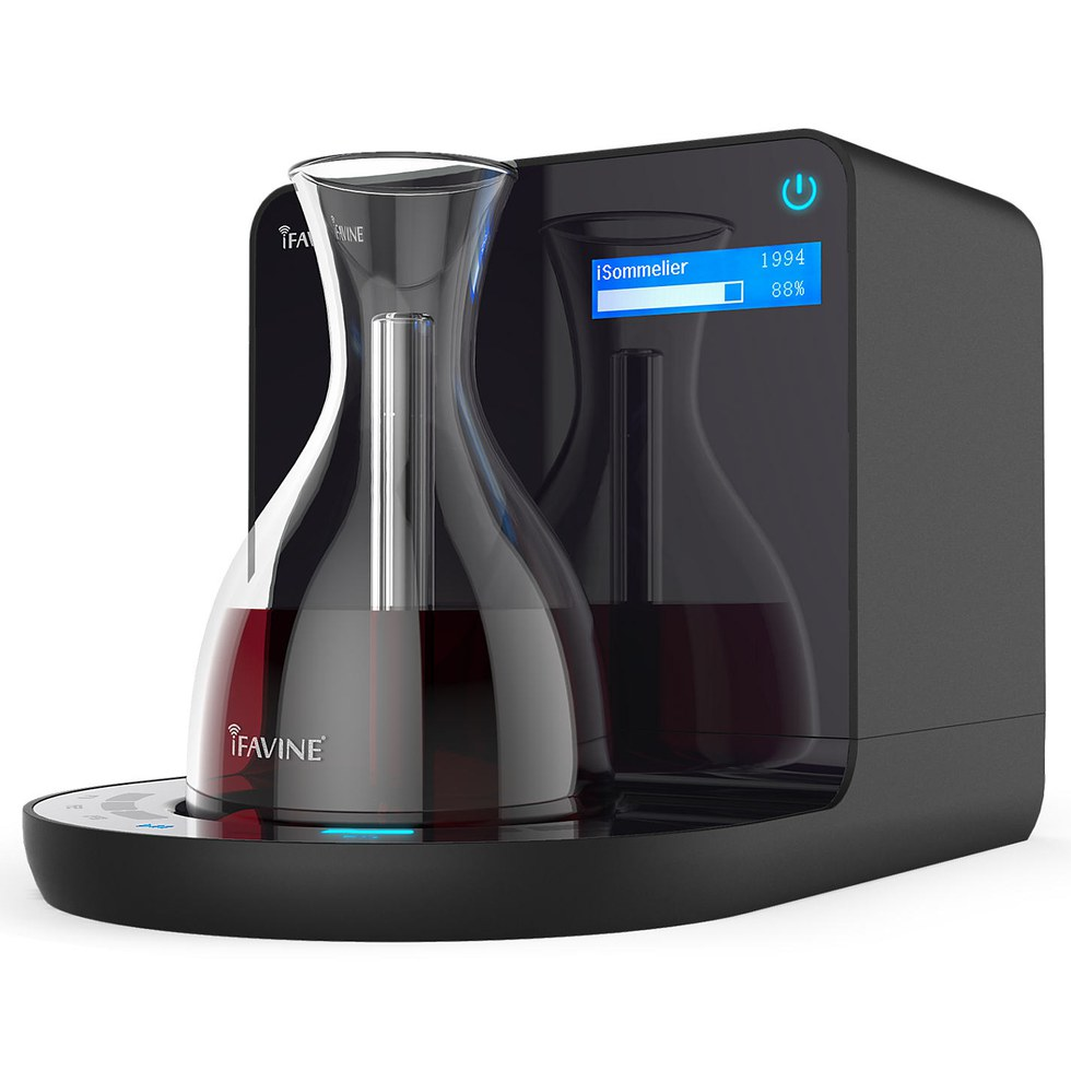 For parents who enjoy drinking a glass of wine here and there, the iSommelier decants their favorite bottle in minutes