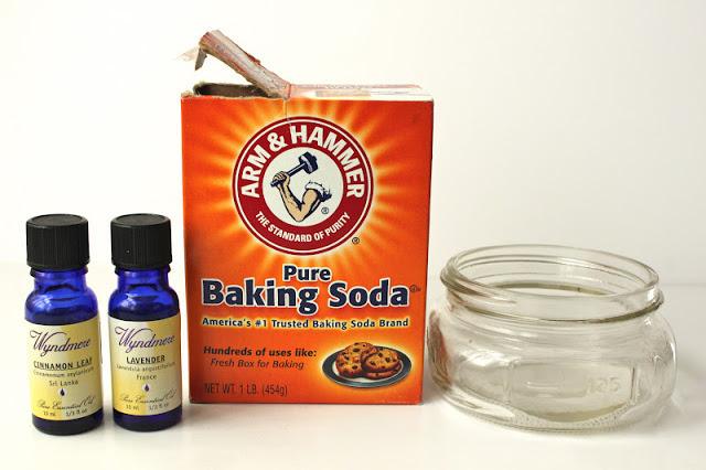 How to make a non toxic mason jar air freshener for Baking soda air freshener recipe