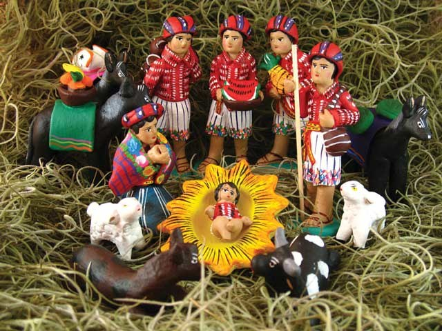 The Nativity Scene is the central piece of Christmas decorations in  Guatemala. From sets that are small but vibrant with colors, to sets that  come with ... - 11 Guatemalan Christmas Traditions