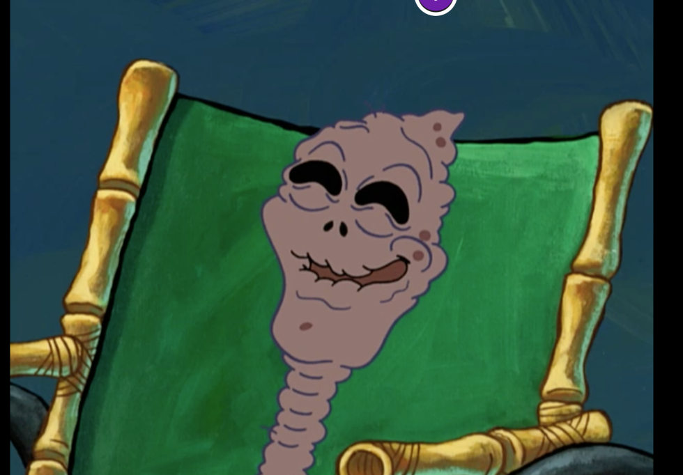 that weird raisin grandma from spongebob was a straight up savage