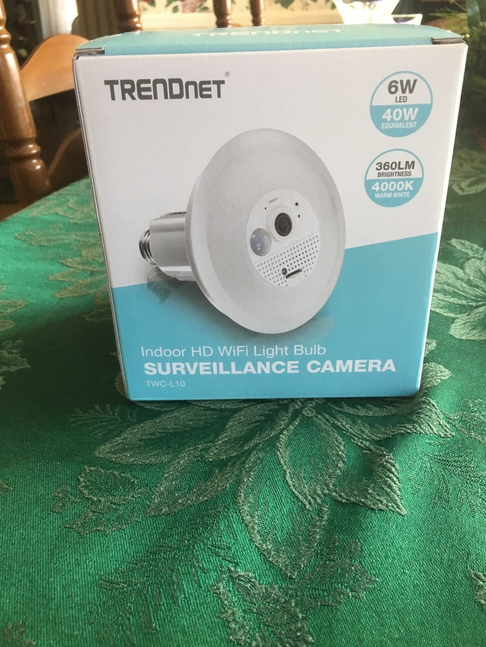 TRENDnet's new Indoor HD Wi-Fi Smart Light Bulb Surveillance Camera