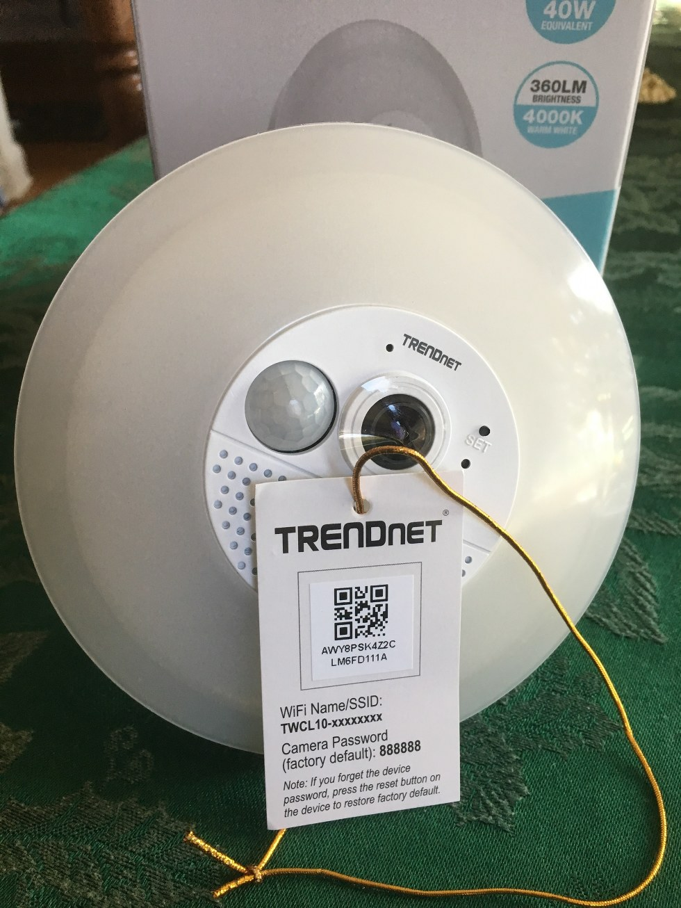 TRENDnet connects to your home router using special user name and passwords.
