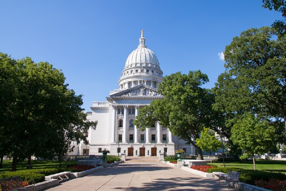 Capital building in Madison, Wisconsin.