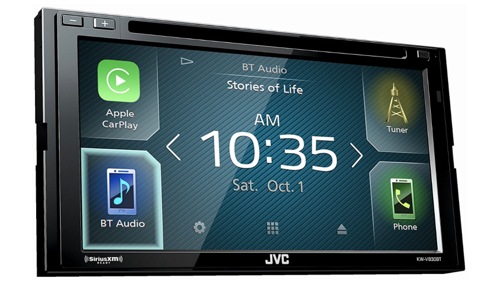JVC KW-V830BT compatible with Android Auto / Apple CarPlay CD/DVD Stereo with SiriusXM Tuner