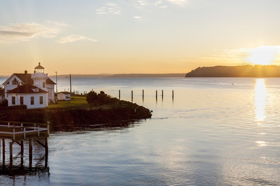 Whidbey Island at sunset