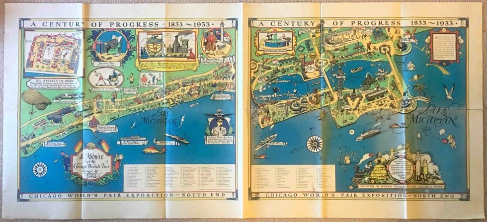 Bookworms And Print Lovers The SF Antiquarian Book Fair Is For You - Vintage sf map