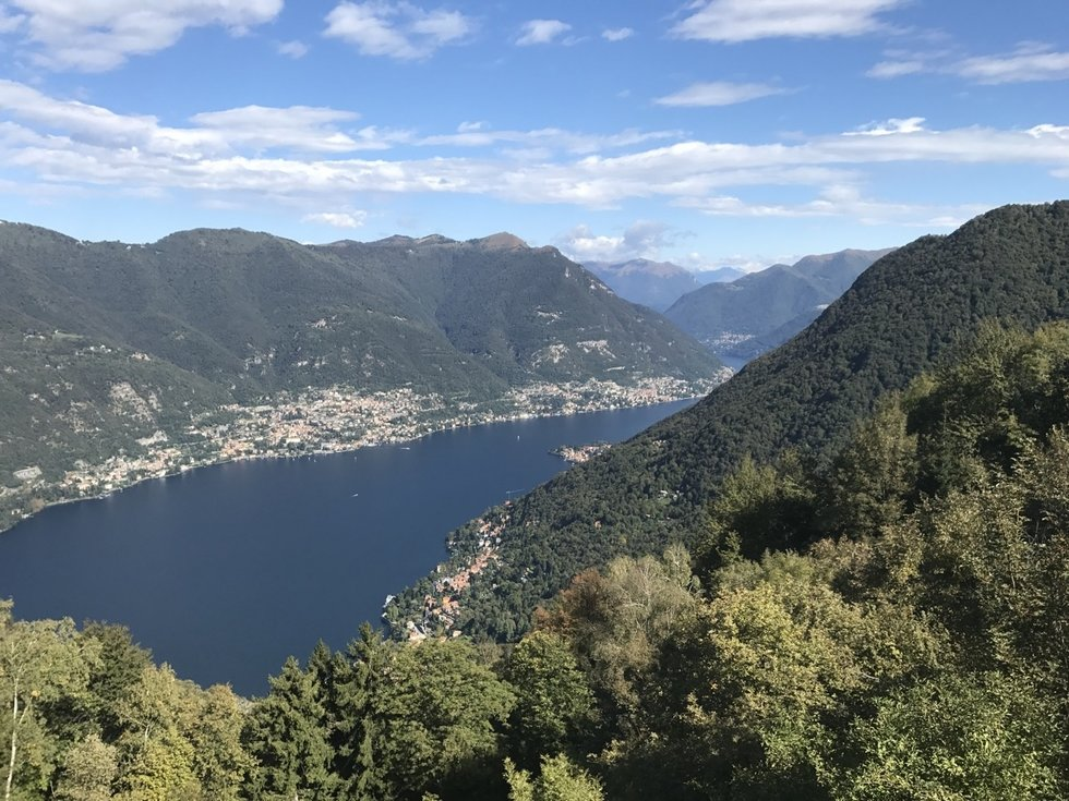 Aerial view of Lake Como