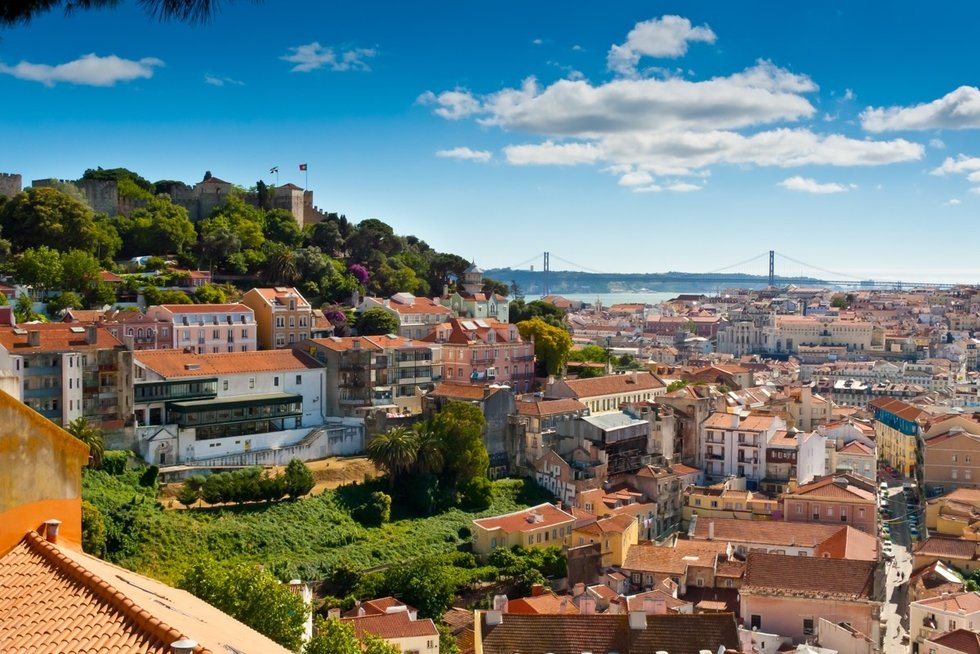Aerial view of the city of Lisbon