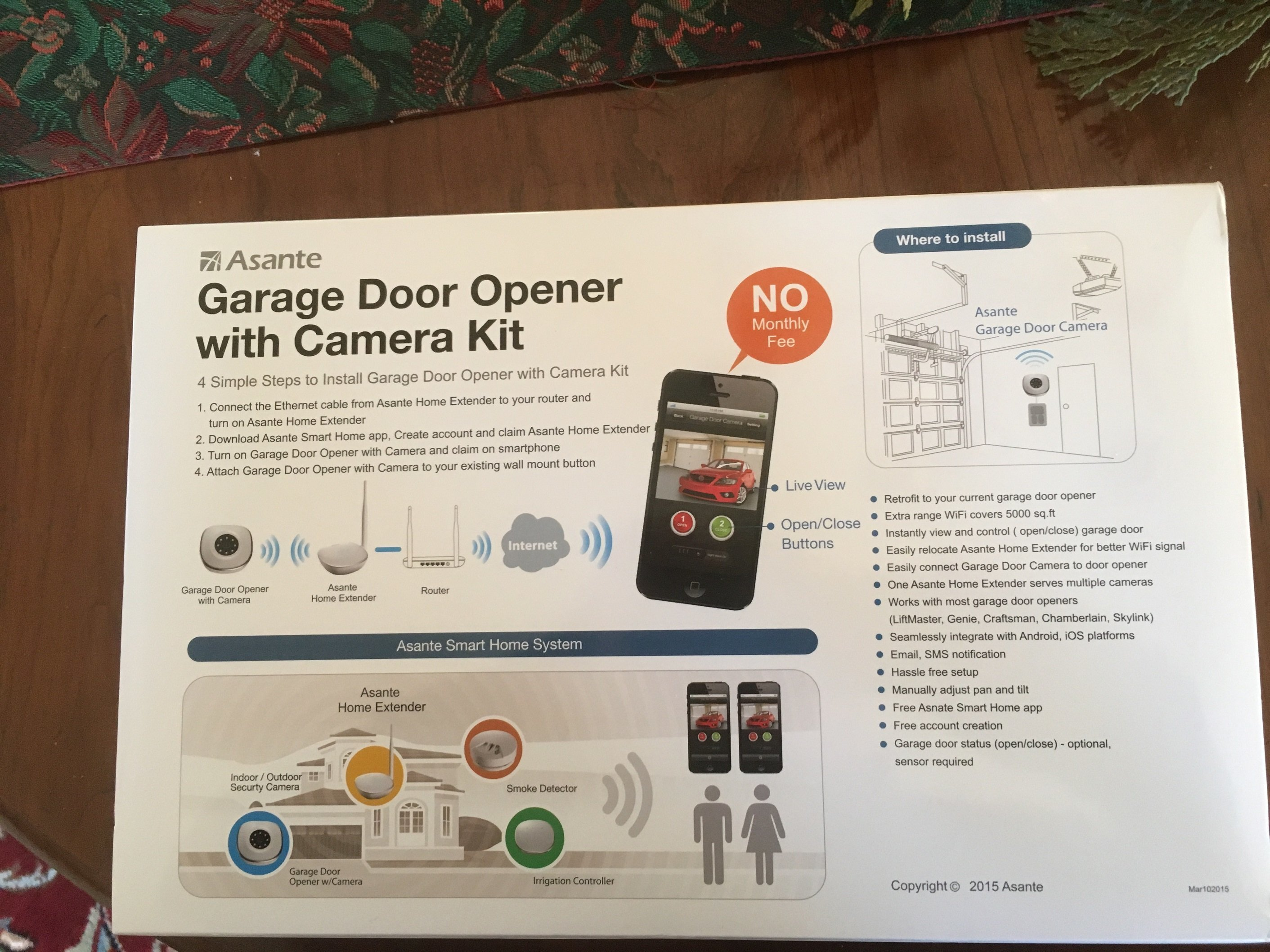 Asante Garage Door Opener And Wi Fi Camera Review For Homes