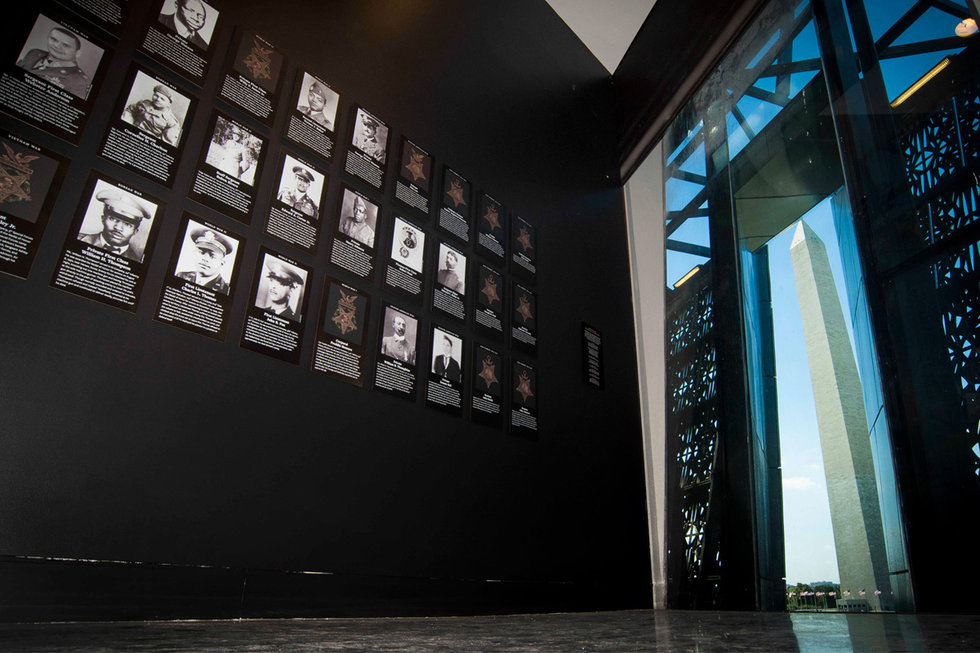 Inside view of the National Museum of African American History and Culture.