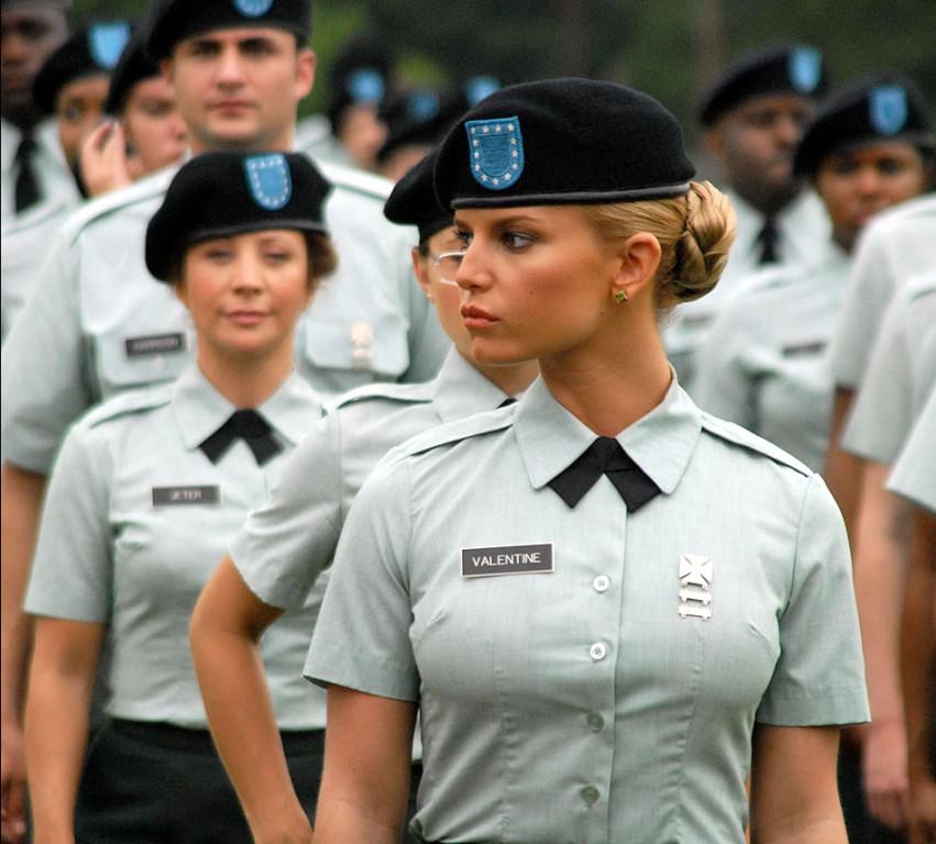 Pretty girls in the army
