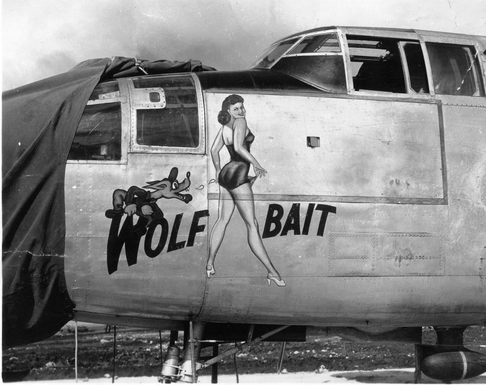 Sexy airplane nose art