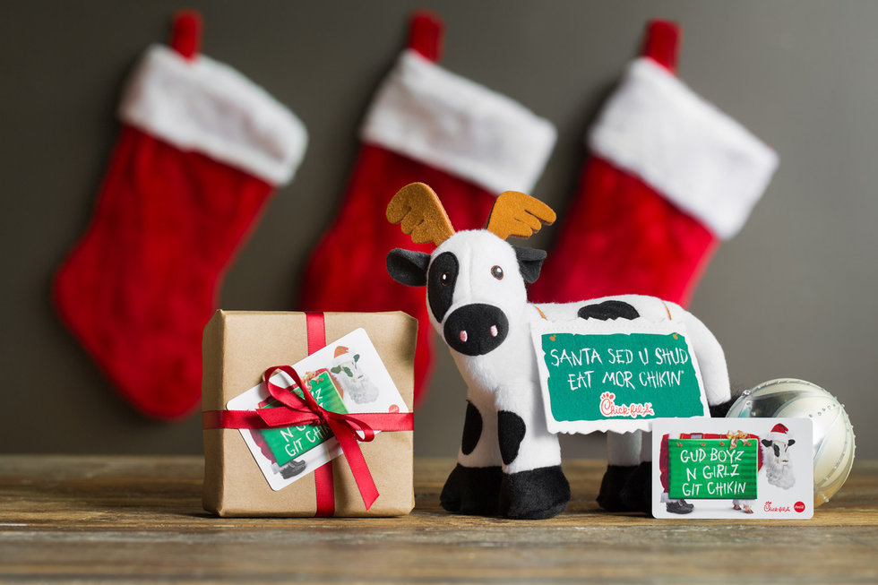 You asked for a Chick-Fil-A gift card for Christmas