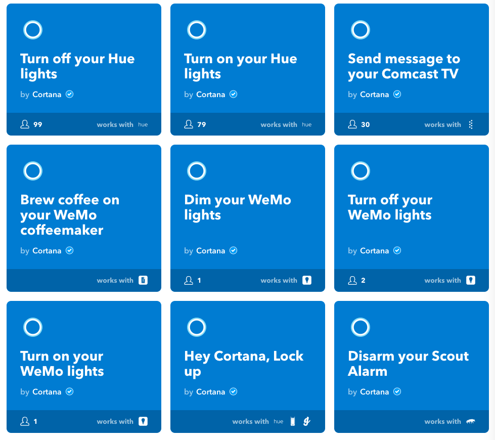 Cortana now supports more smart home devices and IFTTT