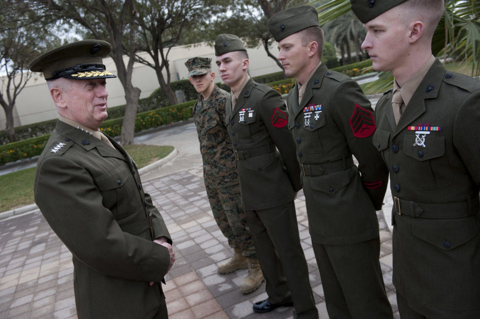 Trump 39 s marine general picks all served together during for General mattis tattoo