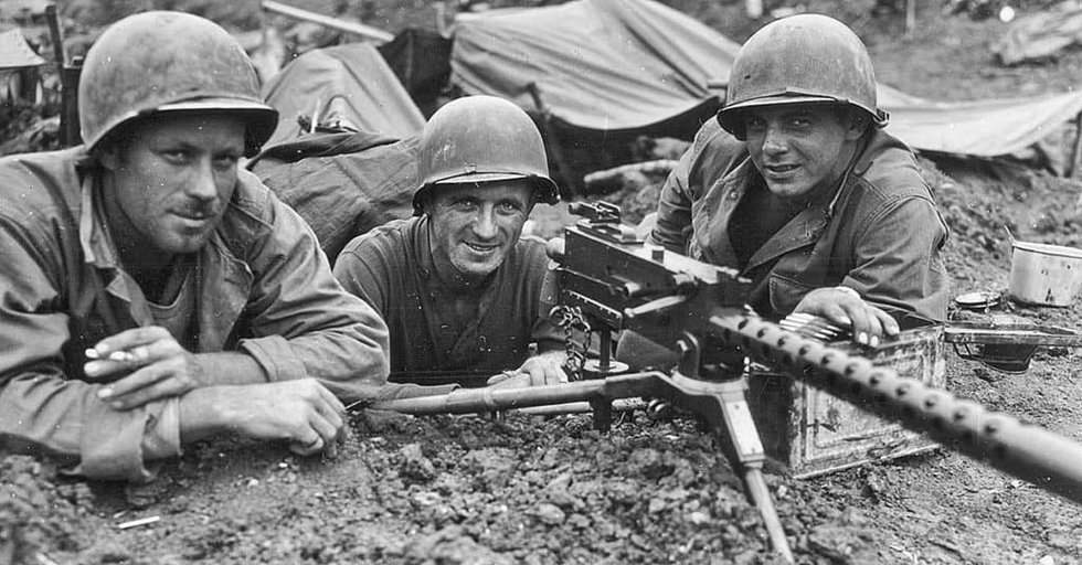 Image result for ww2 US Browning machine gun