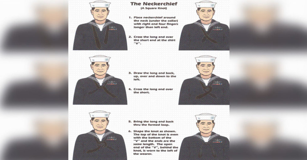 8a436ed6b24 This is why sailors wear neckerchiefs with their dress uniform - We ...