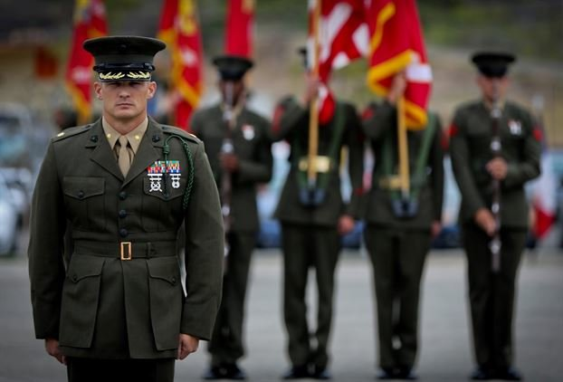 This is why some Marines wear the 'French Fourragere,' and ...