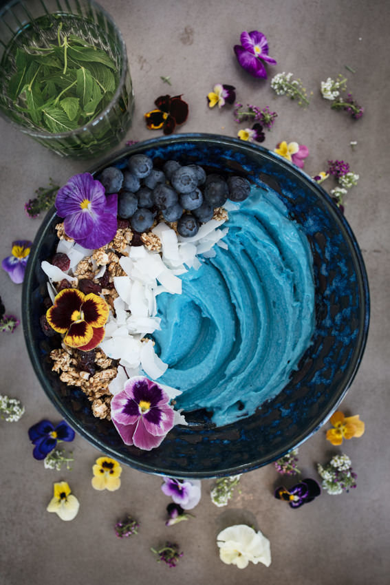 The Blue Majik Smoothie Bowl at Concrete Jungle Caf\u00e9