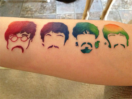 06ac1678c Perfect Tattoos For Beatles' Fans - WOW Photos