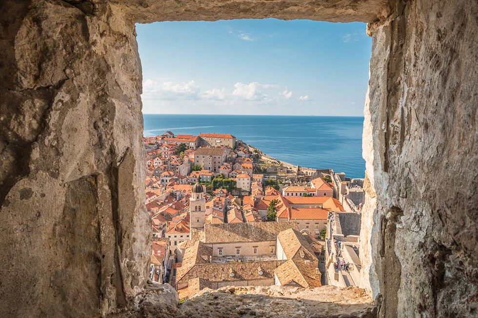 Old city of Dubrovnik in Croatia