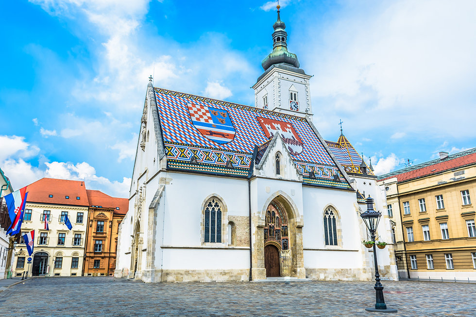 Saint Mark church in Zagreb, Croatia
