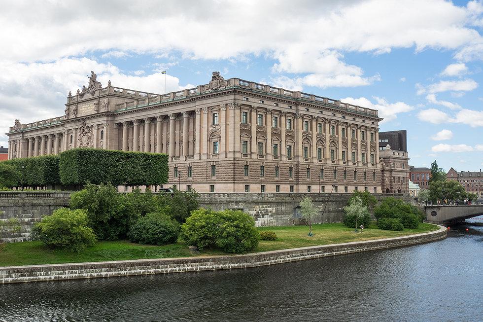 Parliament building in Stockholm, Sweden