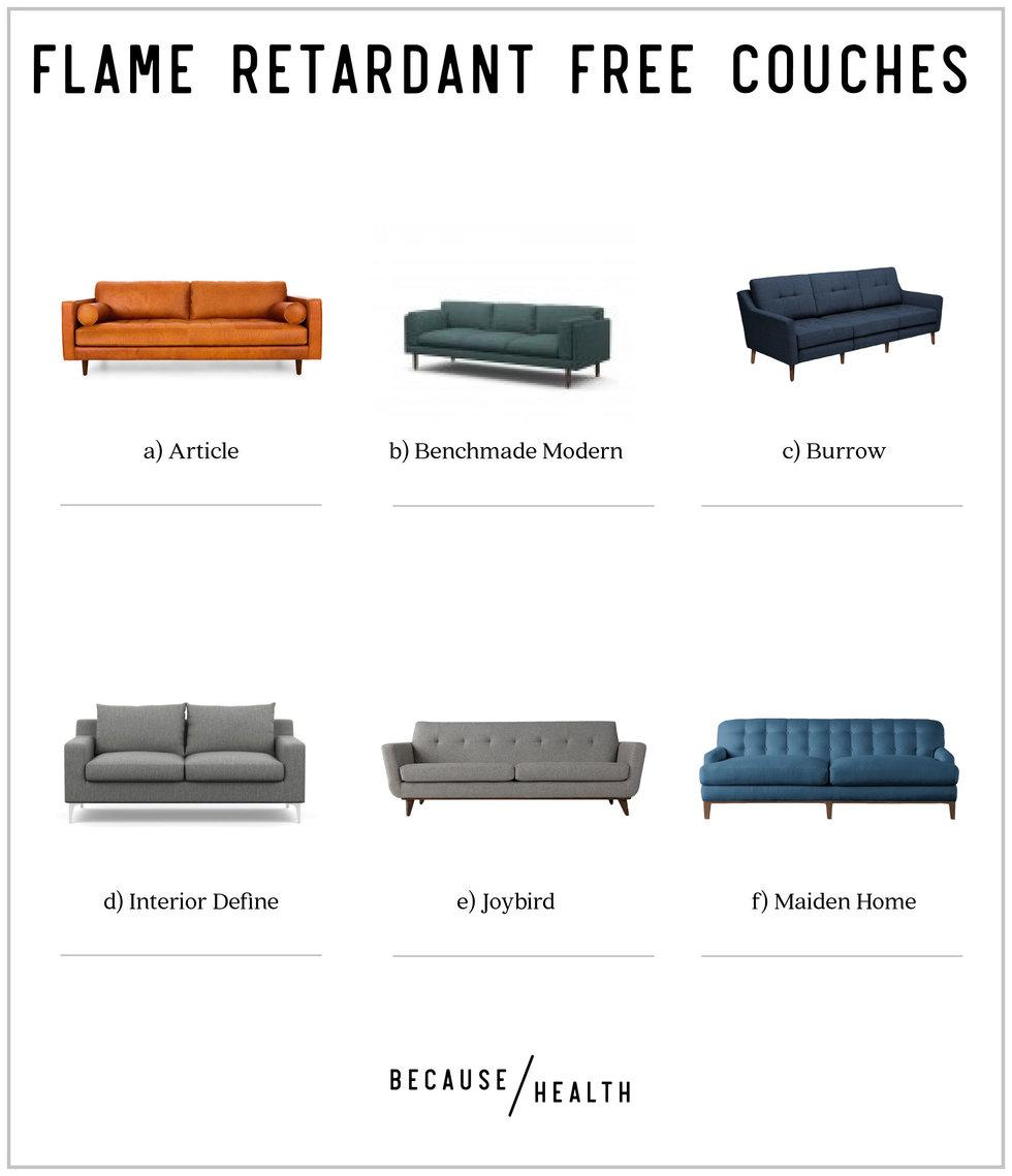 Incroyable 6 Flame Retardant Free Modern Couches