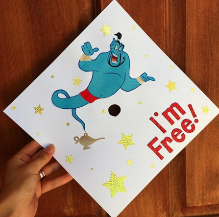 25 college graduation caps for disney lovers that are pure