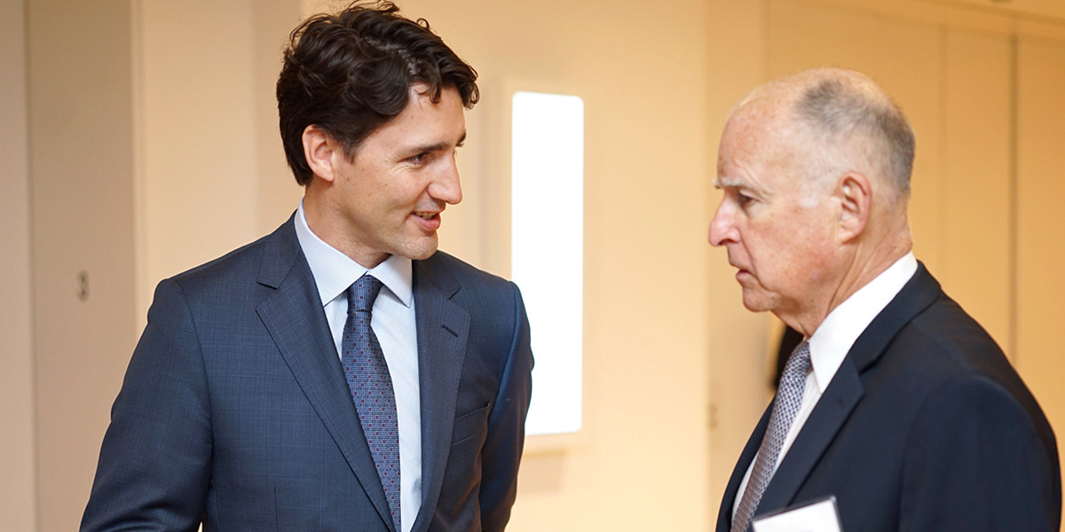 photo image Jerry Brown and Justin Trudeau: Climate Advocates, or Hypocrites?