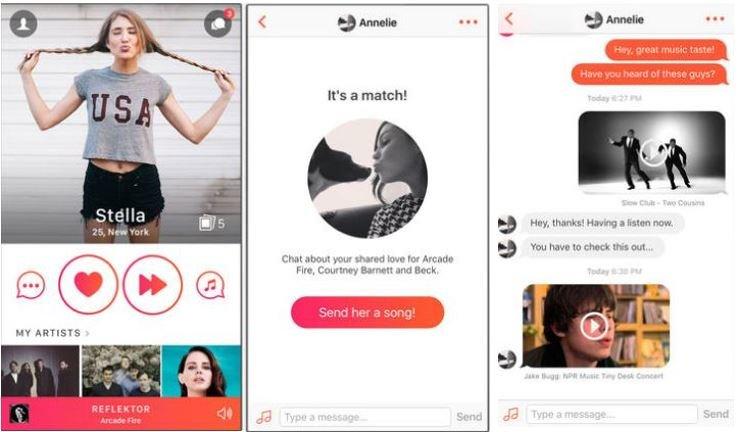 Online dating music app