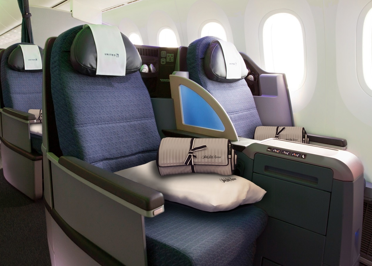 United Airlines Business Class Seat Boeing 787 Dreamliner