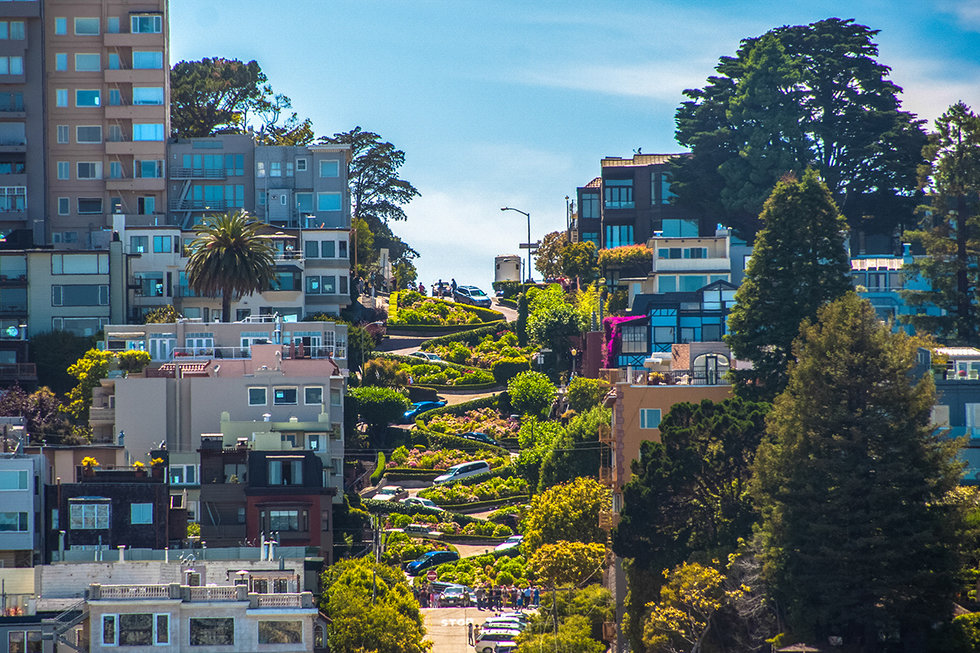 The famous Lombard Street, San Francisco
