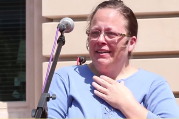 God Changes His Mind, Tells Kim Davis To STFU And Let Gays Get Married
