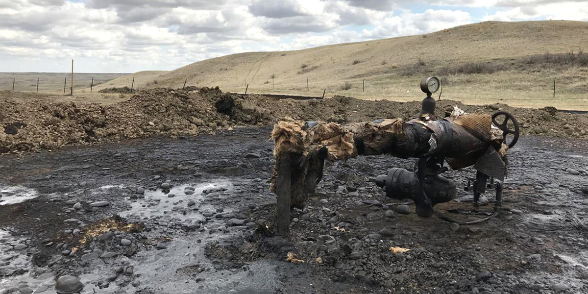 photo image 1,400 Tons of Contaminated Soil Hauled From Montana Reservation Oil Spill Site