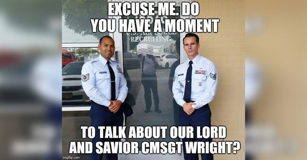 why airmen call chief master sergeant wright  u0026 39 enlisted