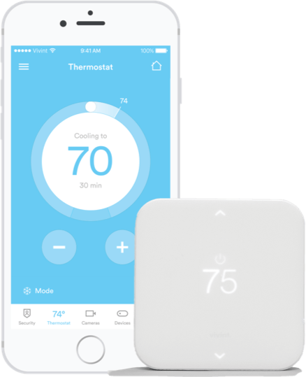 Element Smart Thermostat Works with Vivint
