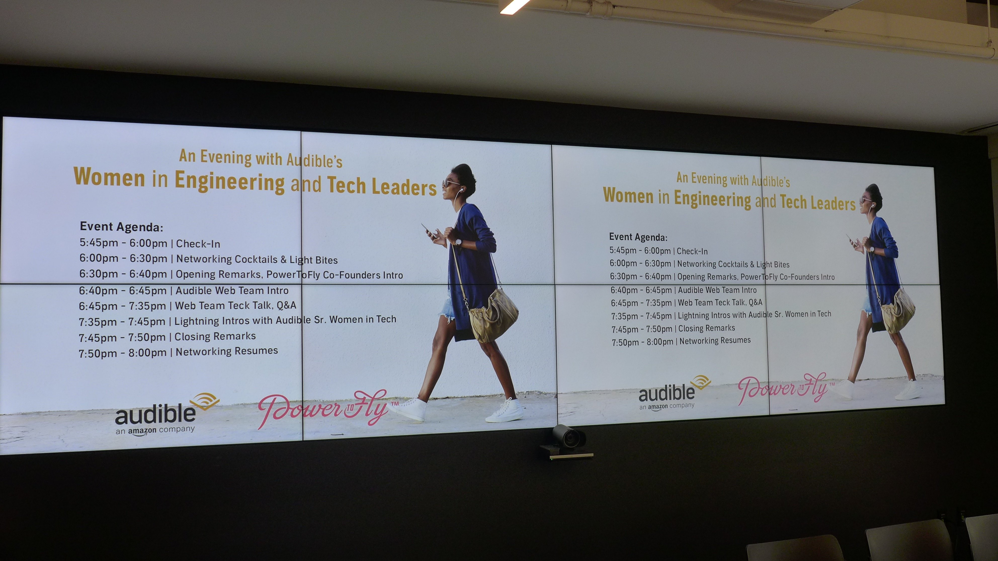 PowerToFly and Audible presented an event for women in tech