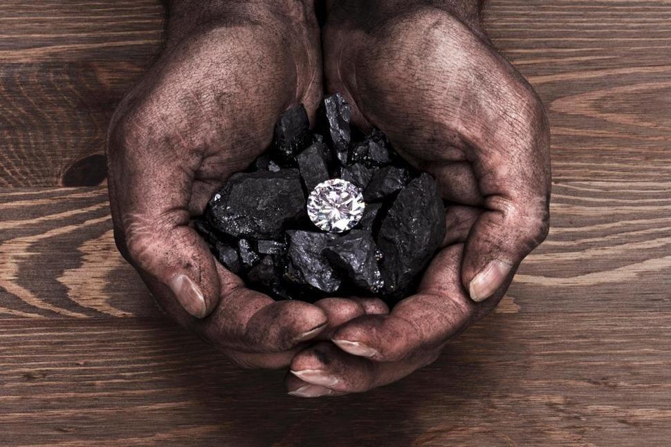 diamond inside coal