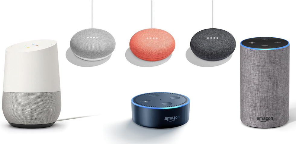Picture Of Google Home Mini Echo Dot And Devices