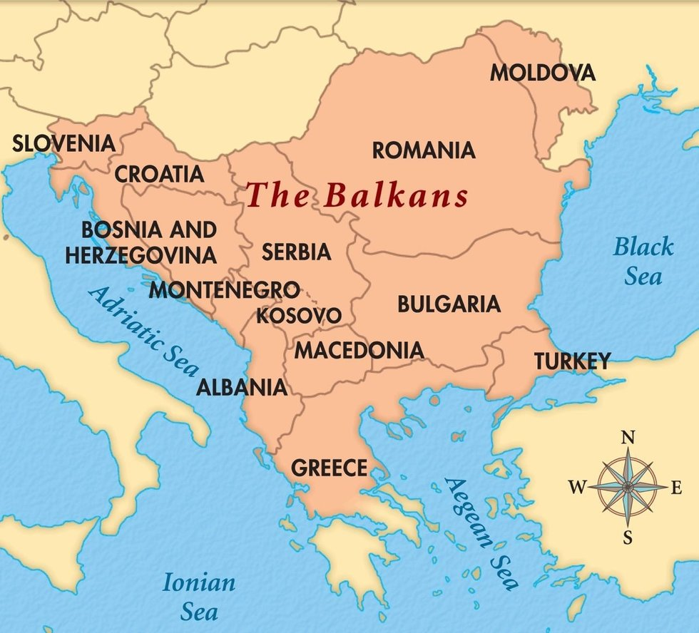 Where Is Slovenia On A Map Of Europe.How To Remember Where South Eastern European Countries Are