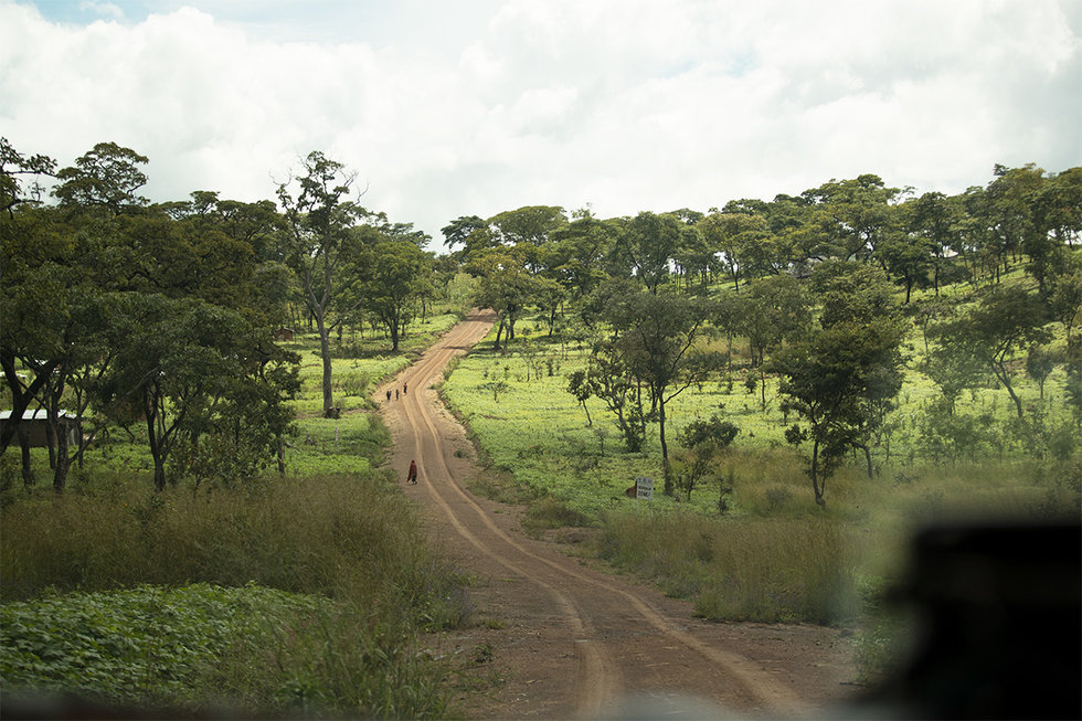 Dirt road in Tanzania